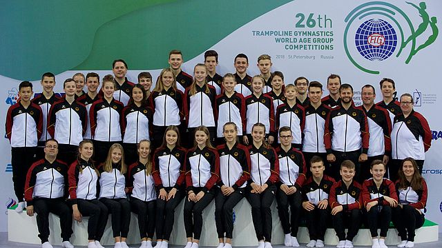 WAGC DTB-Juniorteam Trampolinturnen in St. Petersburg | Bildquelle: DTB